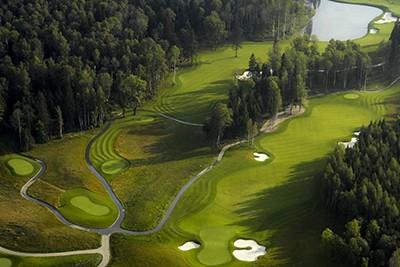Tseleevo Golf and Polo Club, aerial golf view