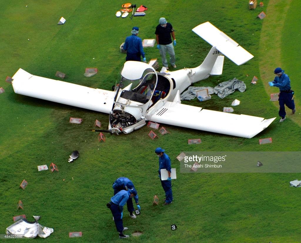 drone image of plane crash