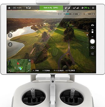 Phantom_3_review_-_controller for golf course virtual tour