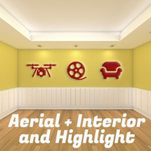 aerial and interior steady cam with marketing video