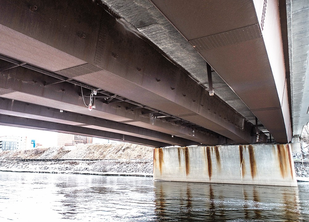 under bridge inspection using drones