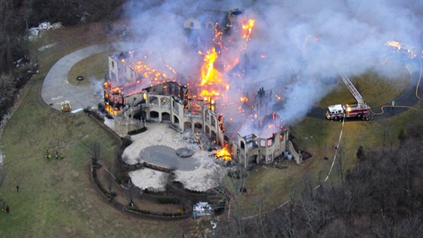 house fire drone aerial shot1