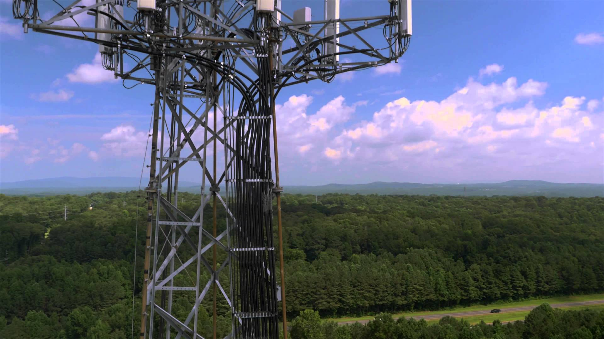 inspection of cell tower by drone