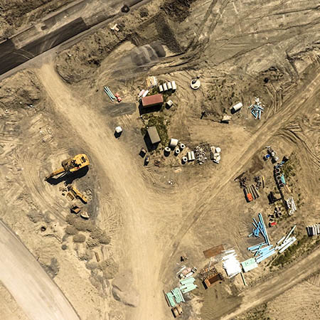 construction site surveys using a drone