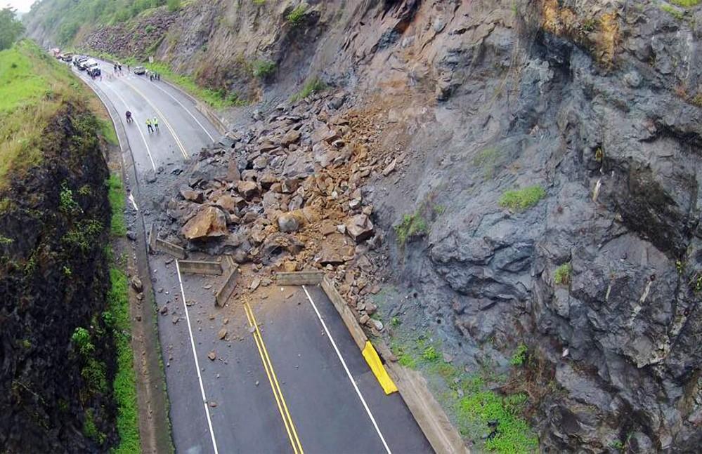 drone image of landslide