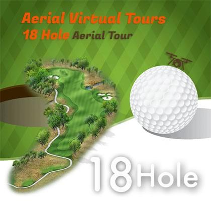 drone golf course virtual tour 18 hole