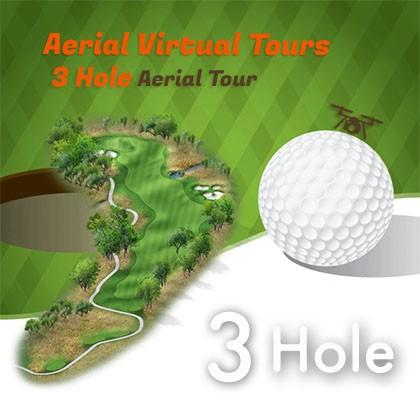 drone golf course virtual tour 3 hole