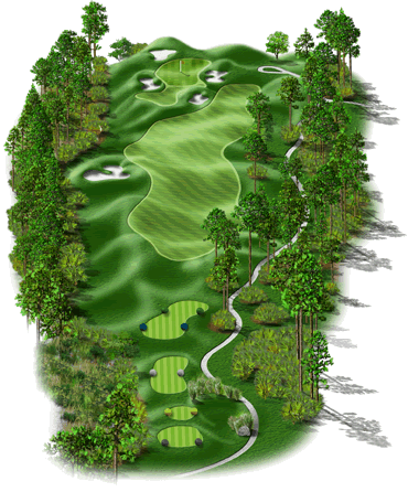 signature hole drone golf course virtual tour