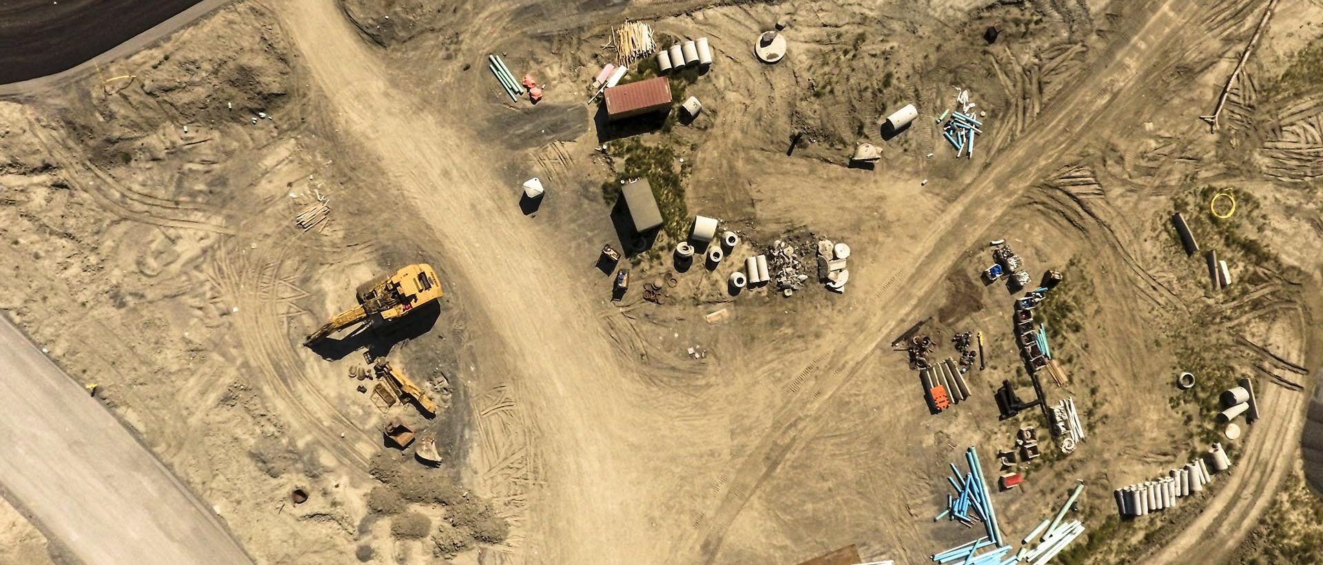 aerial mapping of construction sites with drone