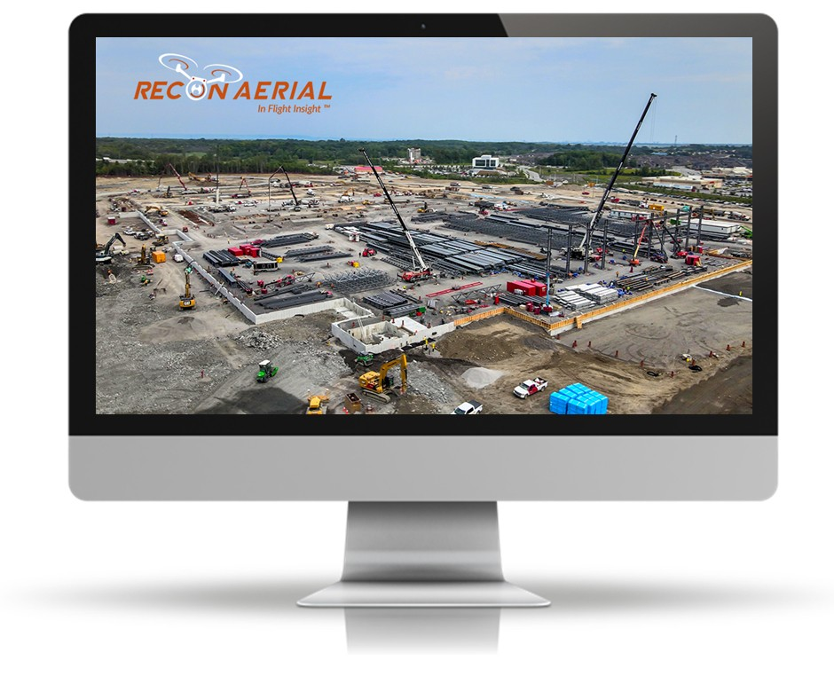 drone project monitoring in construction